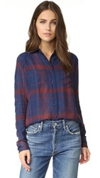 Joe's Jeans Teague Shirt Indigo Plaid