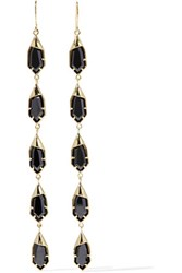 Noir Jewelry Hue Gold Tone Crystal Earrings One Size