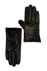 Vince Camuto Double Belted Leather Driver Glove Black