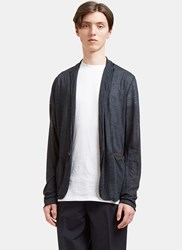 Kolor Relaxed Fine Knit Cardigan Navy