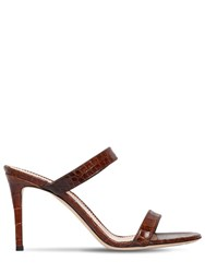 Giuseppe Zanotti 85Mm Embossed Leather Sandals Brown