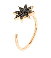 Bee Goddess Black Diamond Ishtar Midi Ring Female