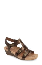 Rockport Cobb Hill Women's 'Harper' Wedge Sandal Bronze Leather