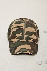 Forever 21 Men Camo Baseball Cap Olive Taupe