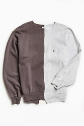 Urban Outfitters Vintage Champion Charcoal Grey Split Seam Crew Neck Sweatshirt