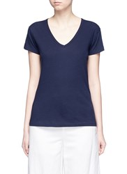 Vince Slub Pima Cotton Jersey T Shirt Blue