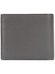 Valextra Fold Out Wallet Men Leather One Size Grey