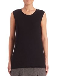M.Patmos Double Layer Merino Wool Tank Top Black