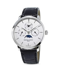 Frederique Constant Slimline Perpetual Calendar Watch 42Mm White Black