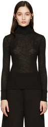 Alexander Wang T By Black Ribbed Turtleneck