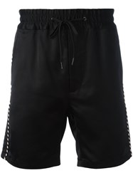 Marc Jacobs Contrast Piped Trim Shorts Black
