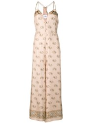 Nanushka Paisley Print Maxi Dress Neutrals