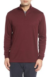 Cutter And Buck Men's 'Belfair' Quarter Zip Pima Cotton Pullover Bordeaux