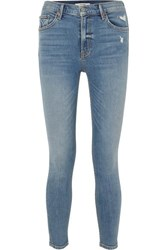 Grlfrnd Kendall Distressed High Rise Skinny Jeans Mid Denim