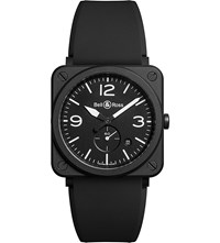 Bell And Ross Brsblcem Aviation Ceramic And Rubber Watch