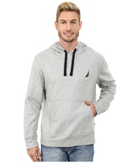 Nautica Pullover Hoodie Grey Heather Men's Sweatshirt Gray