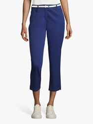 Betty Barclay Cropped Belted Jeans Blue Print