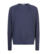 James Perse Vintage Raglan Sweatshirt Male Blue