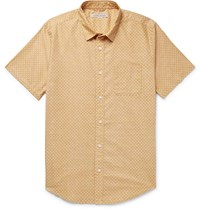 Outerknown S.E.A. Printed Organic Cotton And Hemp Blend Shirt Yellow
