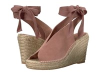 Seychelles Interrelated Rose Suede Wedge Shoes Pink