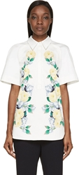 Mother Of Pearl White Rose Print Amie Blouse