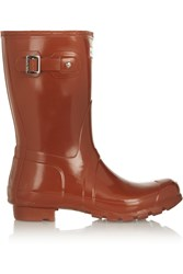 Hunter Short Gloss Wellington Boots Red