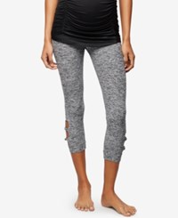 A Pea In The Pod Maternity Cropped Leggings Black White