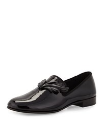 Giuseppe Zanotti Kevin Patent Wing Formal Loafer Nero Black