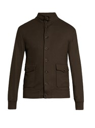 Giorgio Armani Button Up Cashmere Blazer Khaki