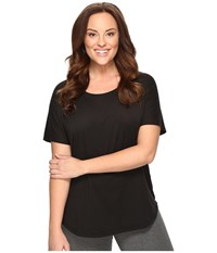 Lucy Extended Final Rep Short Sleeve Top Black Women's Short Sleeve Pullover