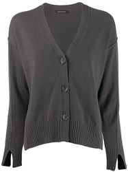 Luisa Cerano Cropped Cardigan Grey
