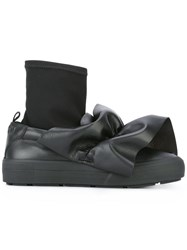 Msgm Bow Detail Boots Black
