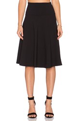 Susana Monaco High Waist Flared Skirt Black