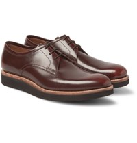 Grenson Lennie Polished Leather Derby Shoes Brown