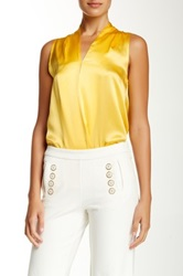 Julie Brown Sydney Silk Tank Yellow