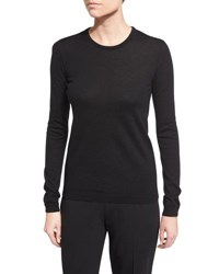 Ralph Lauren Long Sleeve Cashmere Crewneck Sweater Black