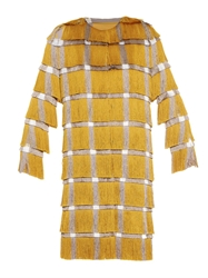 Marco De Vincenzo Checked Fringed Coat
