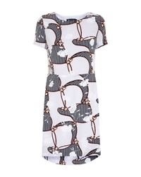 Aquascutum London Heritage Floral Print Dress Navy