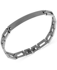 Ecko Unlimited Marc Ecko Men's Stainless Steel Square Link Id Bracelet Silver