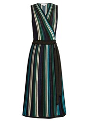 Diane Von Furstenberg Cadenza Dress Blue Multi