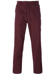 Kenzo Straight Leg Chinos Pink And Purple
