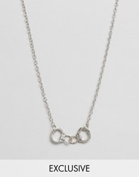 Reclaimed Vintage Handcuffs Necklace Silver