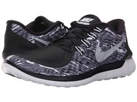 Nike Free 5.0 Print Black White White Men's Running Shoes