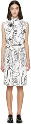 Emilio Pucci Ivory And Black Vintage Print Dress