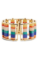 Lele Sadoughi Stripe Hinge Bangle Island Hue