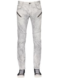 Just Cavalli 17Cm Washed Cotton Stretch Denim Jeans