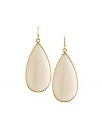 Panacea Mother Of Pearl Teardrop Earrings White
