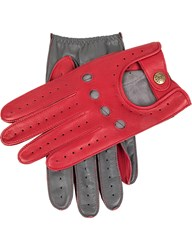Dents Waverley Two Tone Leather Driving Gloves Berry Charcoal
