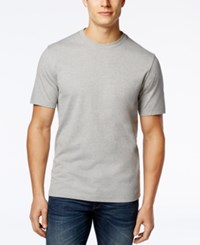 Club Room Men's Paxton Crew Neck T Shirt Only At Macy's Light Grey Heather