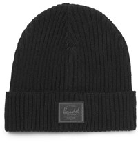 Herschel Supply Co Morris Ribbed Cashmere Beanie Black